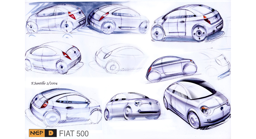 Sketches 2 for Fiat 500.