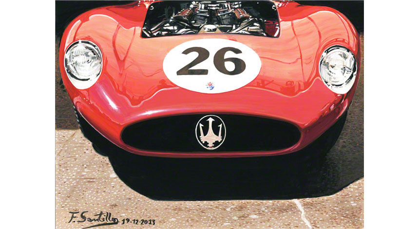 Gouache Paint of the Maserati 450S